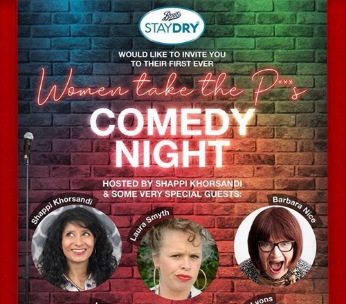 'Women Take The P**s' comedy night